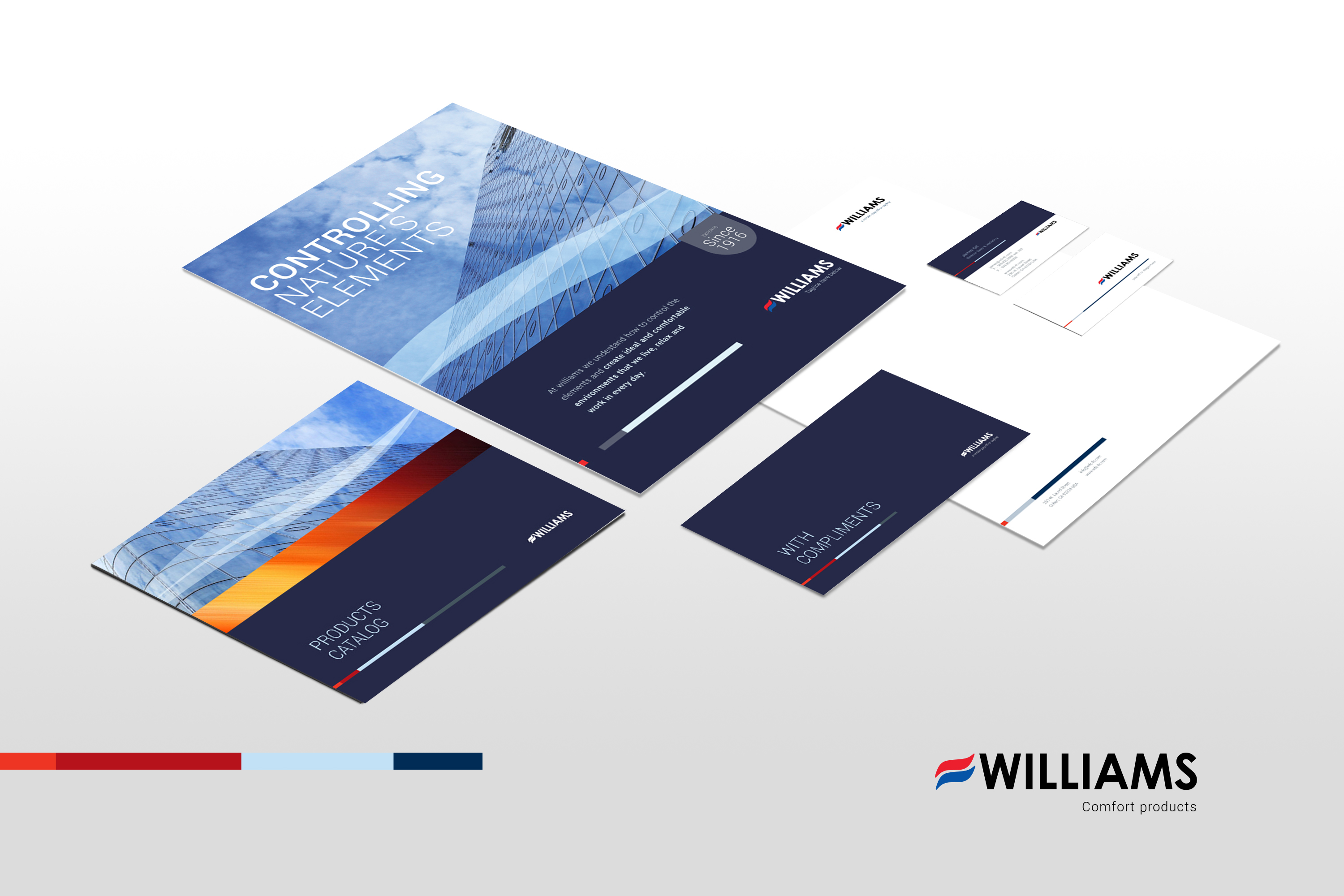 Branding by mercl.com - williams comfort products